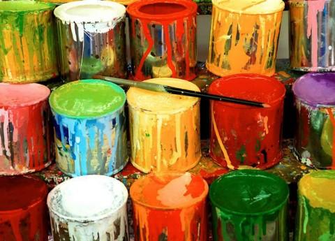 Покраска стен силикатными красками