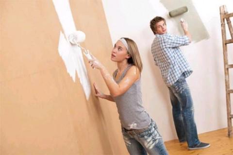 Покраска стен текстурированной краской